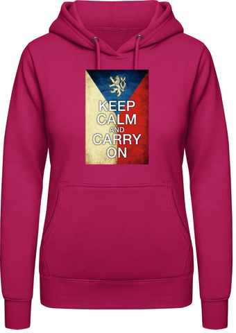 Keep calm and carry on - AWDis Hoodie Dámská