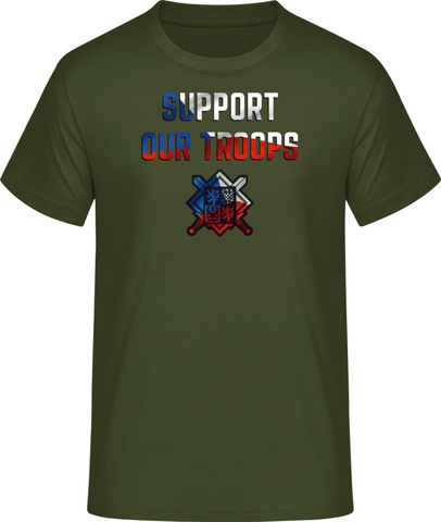 Support our troops - pánské tričko #BC EXACT 190 - Forces.Design