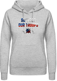 Support our troops - dámská mikina s kapucí AWDis - Forces.Design
