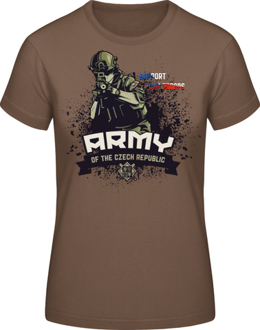 Armáda - support our troops - dámské tričko #BC EXACT 190 - Forces.Design