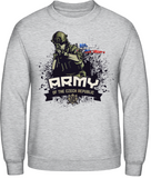 Armáda - support our troops - pánská mikina bez kapuce AWDis - Forces.Design
