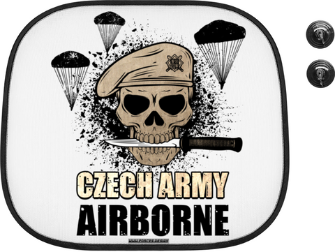 Czech airborne - stínítko do auta