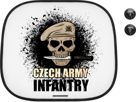 Czech infantry - stínítko do auta