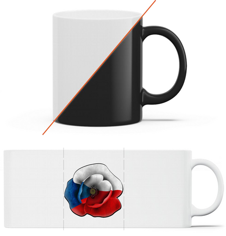 Poppy - magický hrnek Black mug - Forces.Design