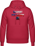 Support our troops  - Pánská mikina s kapucí AWDis - Forces.Design