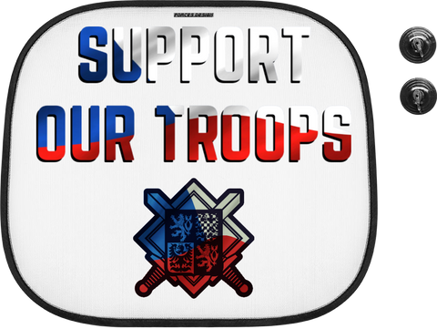 Support our troops - stínítko do auta