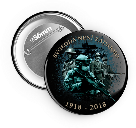 1918 - 2018 I. - odznak 56 mm 6 ks - Forces.Design