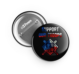 Support our troops - odznak 37 mm , 6 ks