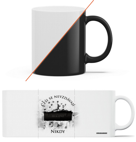 Krypta s datem - magický hrnek Black mug - Forces.Design