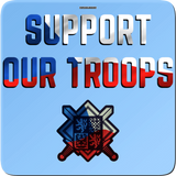 Support our troops - magnet čtvercový