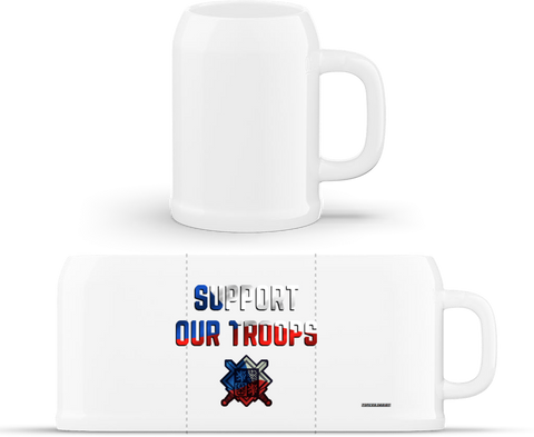 Support our troops - půllitr classic
