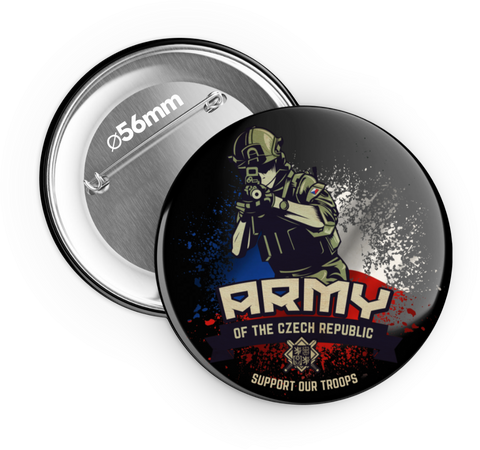 Armáda ČR - support our troops - odznak 56 mm - Forces.Design