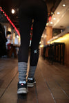 GLITZ LEGGING - METALLIC BLACK