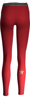 GLITZ LEGGING - FIRE RED
