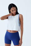 VELVET CROP TEE - CLOUD