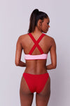 SIREN - REVERSIBLE - HIGH LEG BIKINI ALTI - PINK STARFISH