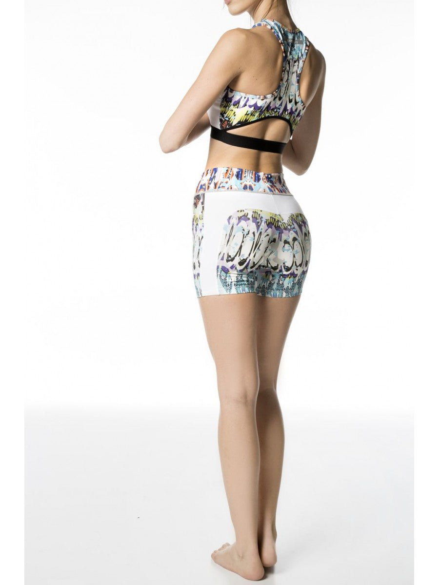 Minibum Shorts - White / Riviera