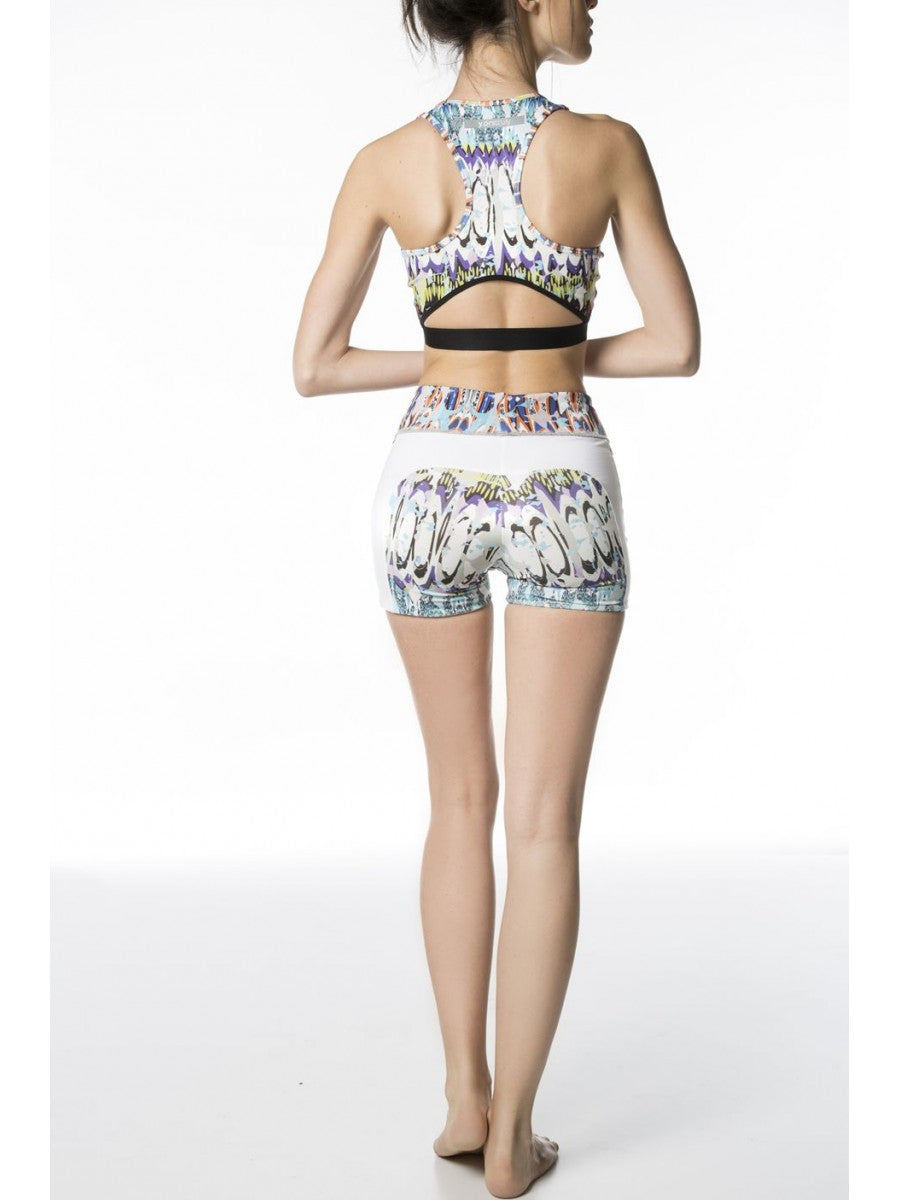 Anjali Crop Top - White / Riviera