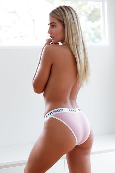 Pink Cotton Thong | Cotton Thong | Lounge Thong