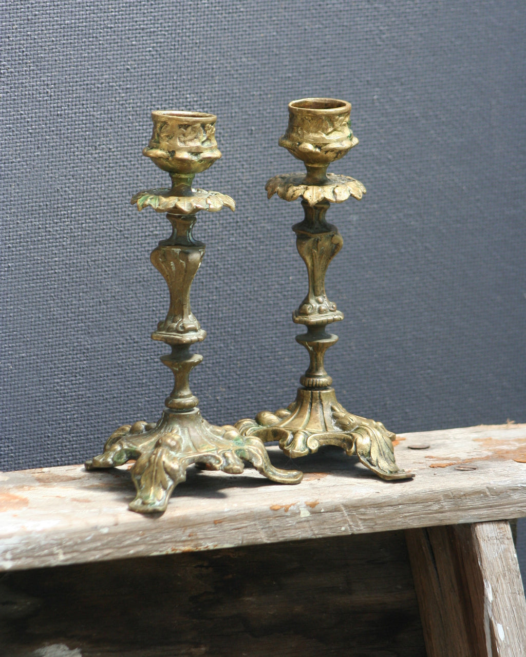 French Country Candlestick Holders