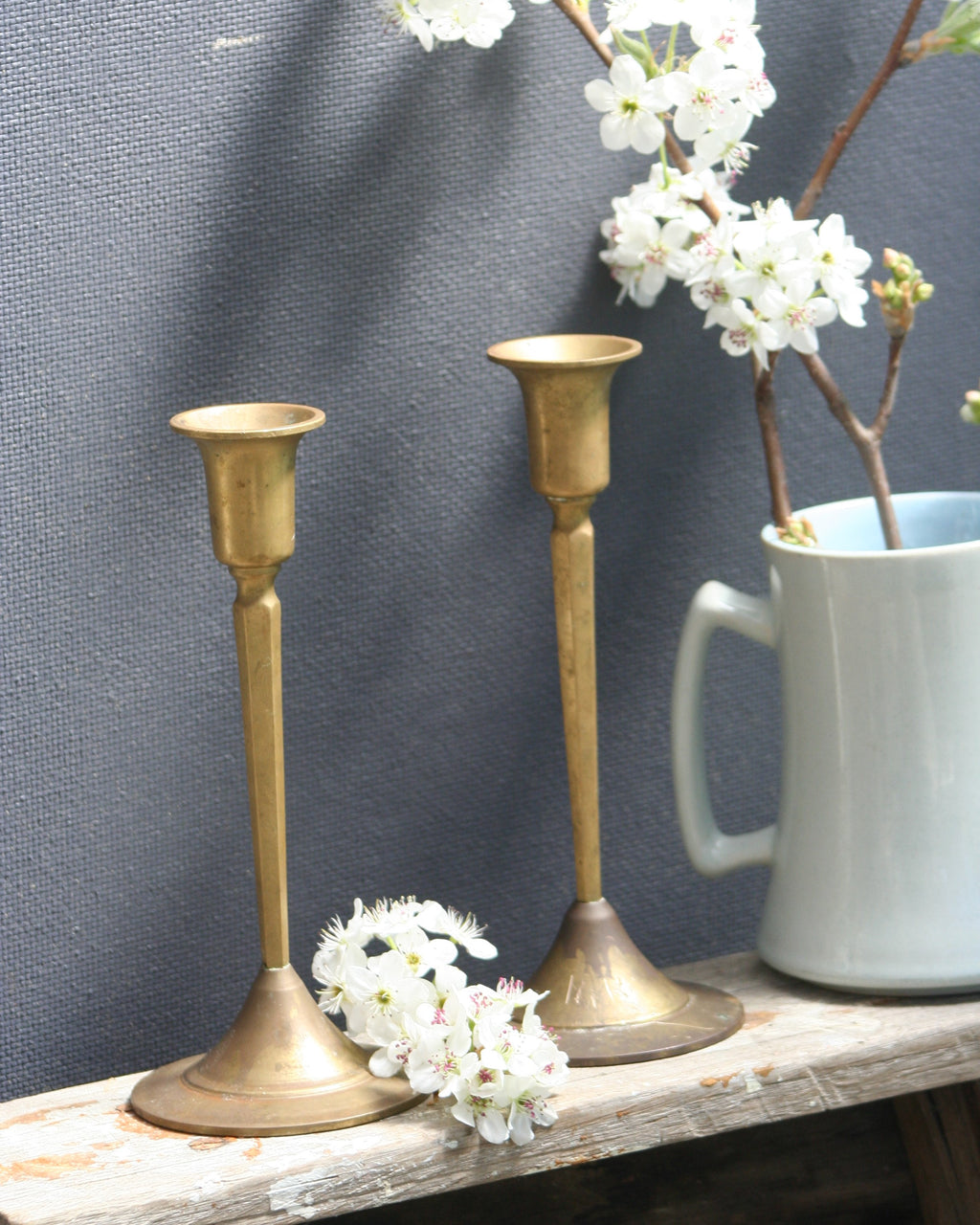 Brass candlesticks french country