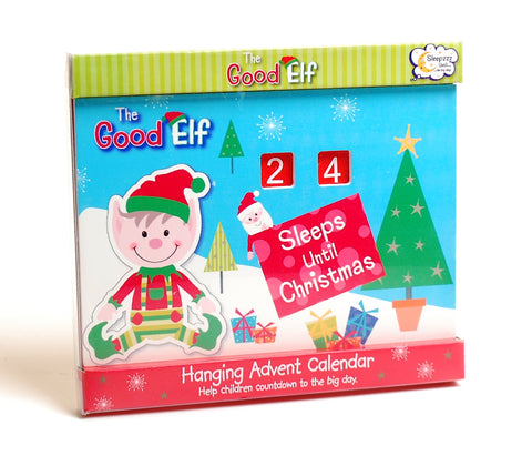The Good Elf Hanging Wooden Countdown Sleeps until Christmas