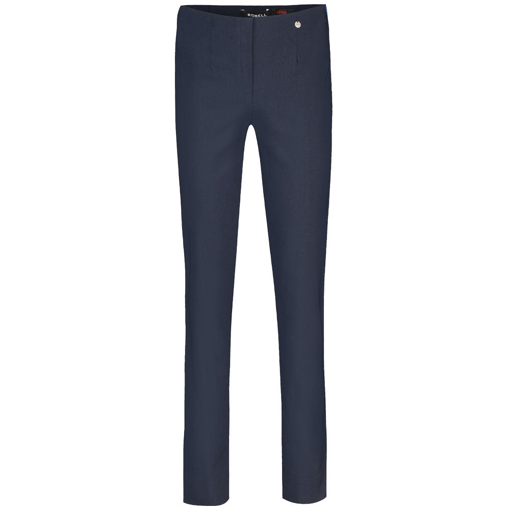 Robell Marie Navy Blue F/L Trousers | The LBD Boutique & Trouser Shop
