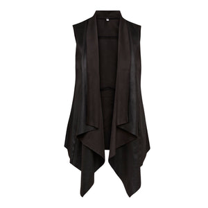Que Black Faux Leather Waistcoat - SIZE 12 ONLY | The LBD Boutique & Trouser Shop
