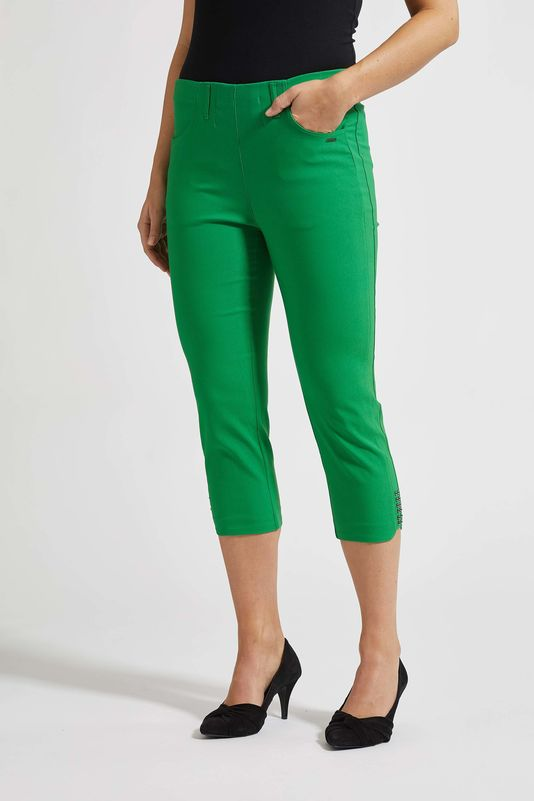 Laurie Dora Capri Trousers in Green | The LBD Boutique & Trouser Shop