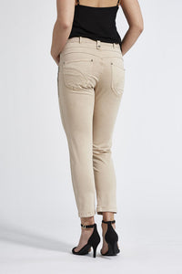 Laurie Ozona Beige Ankle Trousers - 27869