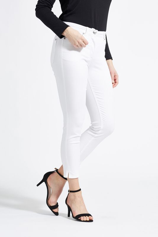 LauRie Amy White Ankle Trousers - 29363 | The LBD Boutique & Trouser Shop