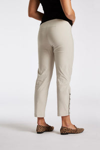 Laurie Polly Grey Sand Stretch Ankle Trousers | The LBD Boutique & Trouser Shop