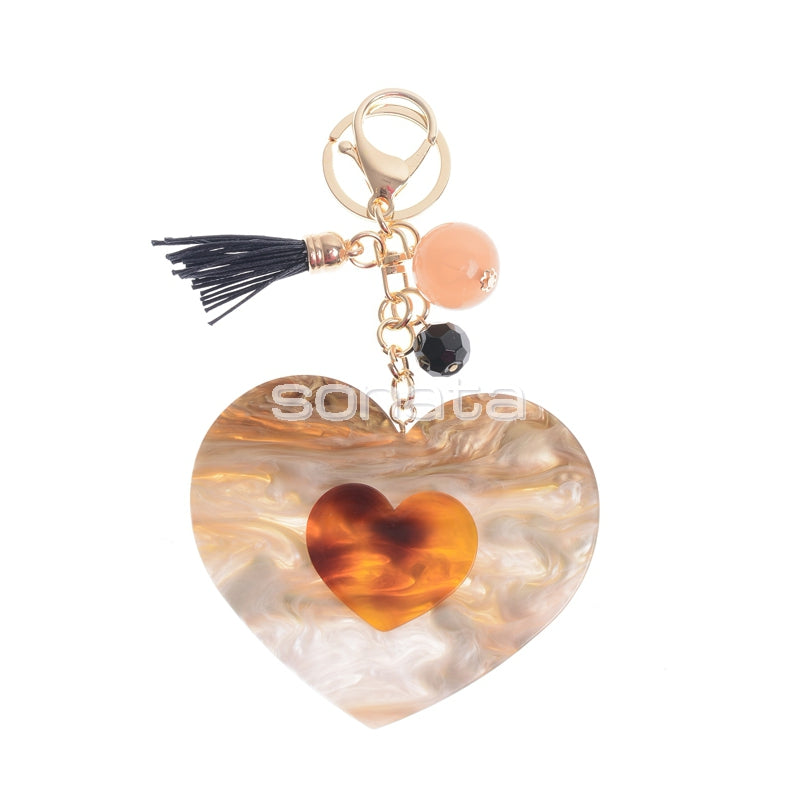 Sonata Chunky Heart Keyring / Charm 41346 | The LBD Boutique & Trouser Shop