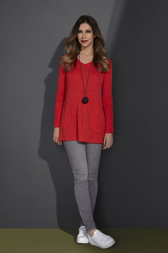 Foil Clothing Persimmon Merino Wool Swing Tunic - 4557 | The LBD Boutique & Trouser Shop
