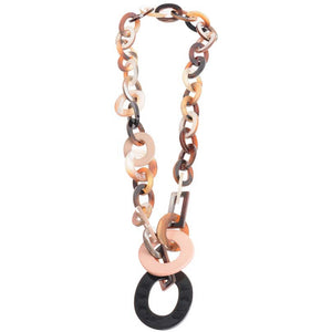 Sonata Chunky Links Necklace with Black and Pink | The LBD Boutique & Trouser Shop
