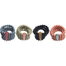 Sonata Resin Bead Multi Bracelet in Green, Black, Grey & Pink 46436 | The LBD Boutique & Trouser Shop