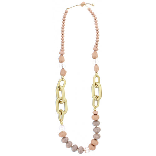 Sonata Pink Links and Bead Long Necklace | The LBD Boutique & Trouser Shop
