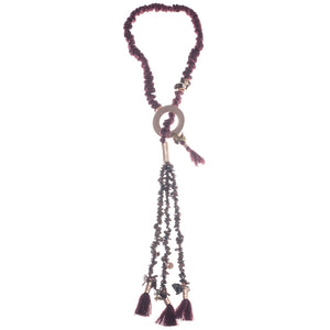 Sonata Garnet and Copper Fabric Mix Lariat | The LBD Boutique & Trouser Shop