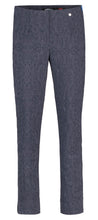 Robell Marie Navy Blue Jacquard F/L Trousers | The LBD Boutique & Trouser Shop