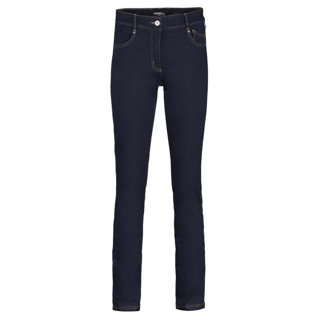 Robell Elena Dark Blue Stretch Denim Jeans | The LBD Boutique & Trouser Shop
