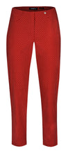 Robell Bella 09 Red with Spots Ankle Trouser | The LBD Boutique & Trouser Shop