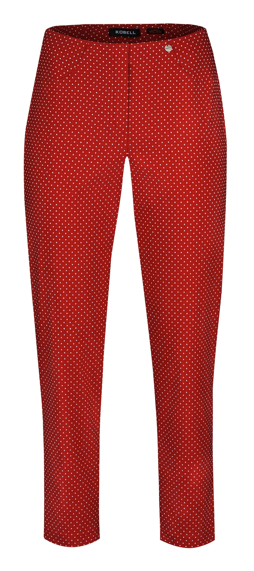 Robell Bella 09 Red Spot Ankle Trouser | The LBD Boutique & Trouser Shop