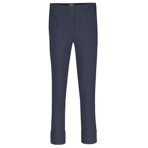 Robell Bella 09 Navy Blue Ankle Trousers | The LBD Boutique & Trouser Shop