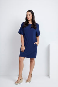 Assign French Navy Relaxed Tunic | The LBD Boutique & Trouser Shop