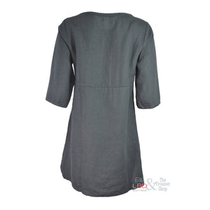 Cut Loose 3/4 Sleeve Grey Tunic - XL ONLY | The LBD Boutique & Trouser Shop