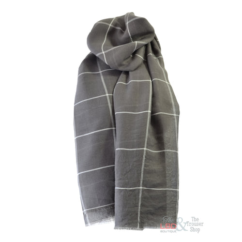 Foil Clothing Check Scarf - 0021
