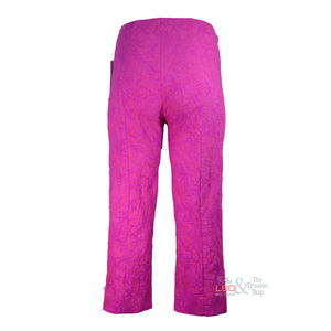 Robell Marie Fuchsia Pink Jacquard Crop Trouser | The LBD Boutique & Trouser Shop