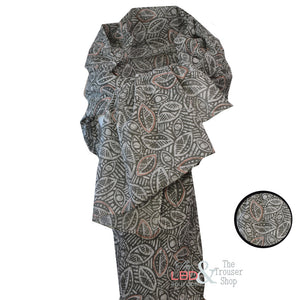 Zilch Cotton Leaves Powder Pattern Scarf | The LBD Boutique & Trouser Shop