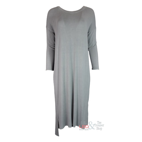 APFB Lara Stepped Hem Dress in Grey | The LBD Boutique & Trouser Shop