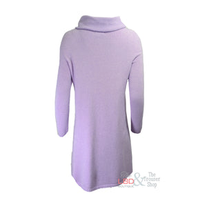 Deck by Decollage Long Lilac Knitted Tunic | The LBD Boutique & Trouser Shop